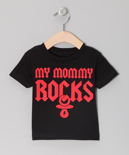 Black 'My Mommy Rocks' Tee - Infant & Toddler