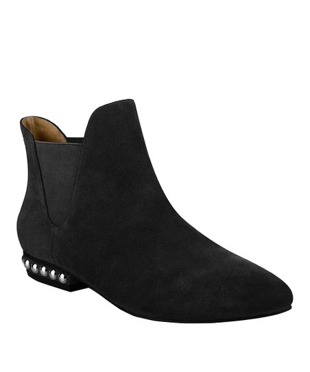 Black Trischa Suede Ankle Boot