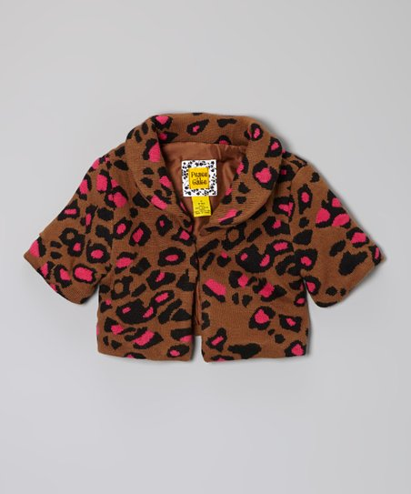 Brown & Pink Cheetah Coat - Toddler & Girls
