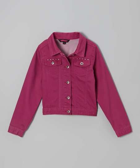 Pink Studded Twill Jacket