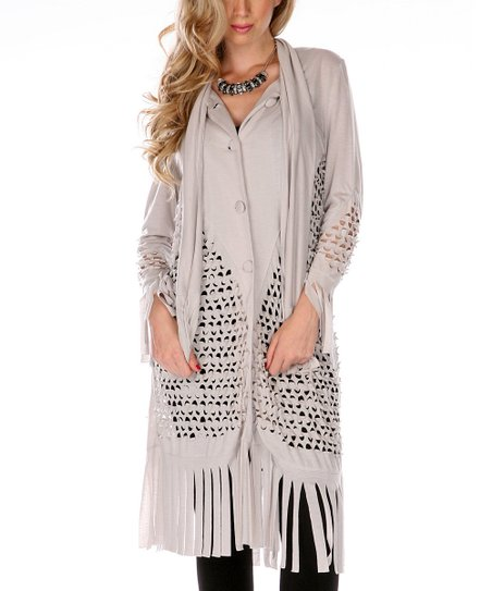 Gray Laser-Cut Duster