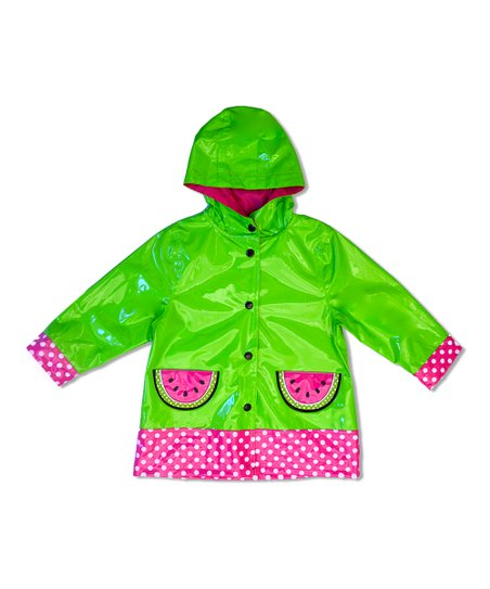 Green Watermelon Raincoat - Toddler & Girls