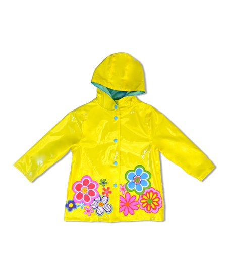 Yellow Flower Raincoat - Infant, Toddler & Girls