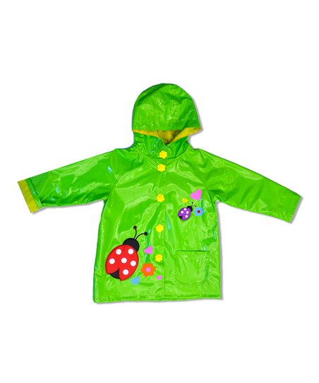 Green Ladybug Raincoat - Toddler