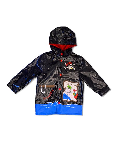 Black Pirate Raincoat - Toddler & Boys