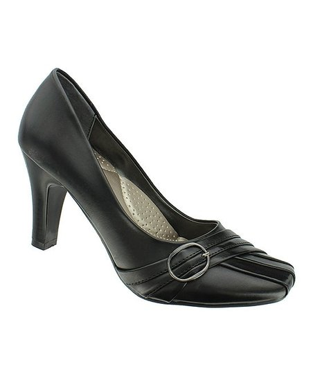 Black Buckle Pump