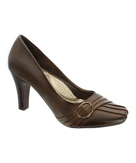 Brown Buckle Pump