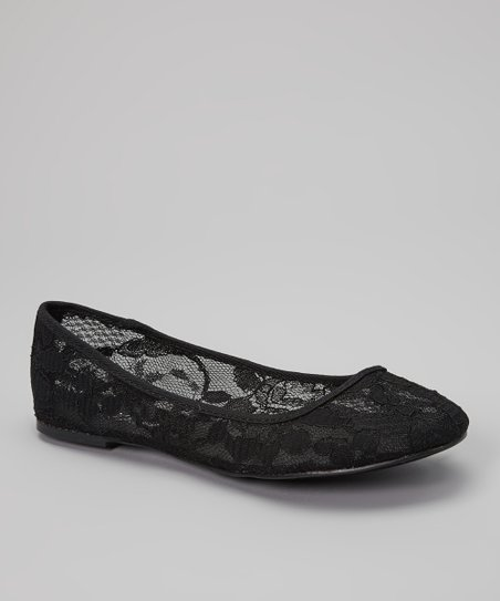 Black Lace Elle Flat