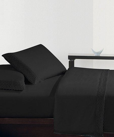 Black Lace Sheet Set
