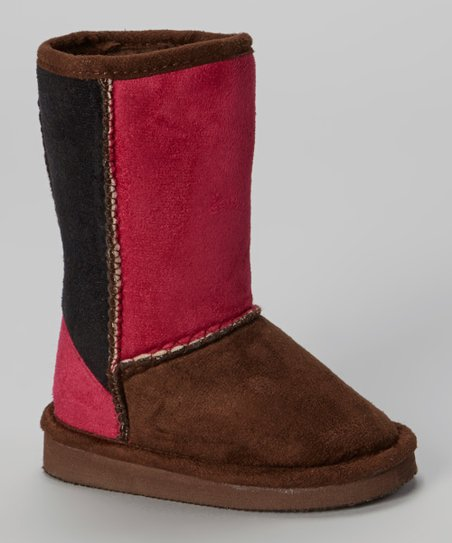Brown & Fuchsia Betty Boot