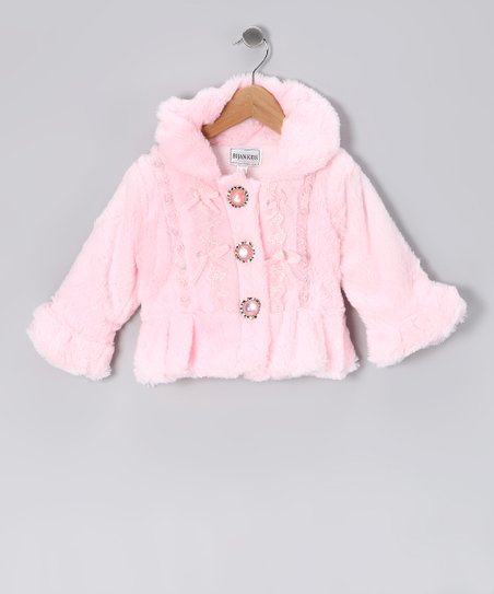 Pink Pearl Faux Fur Coat - Infant, Toddler & Girls