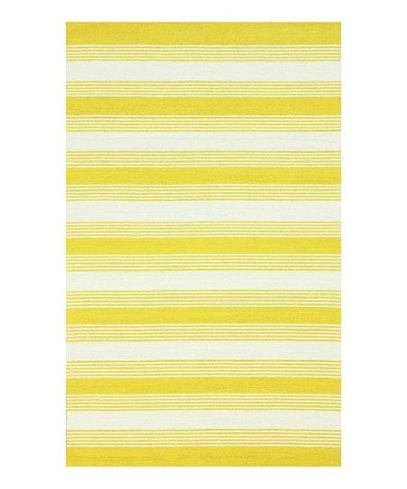 Yellow & White Rizo Rug