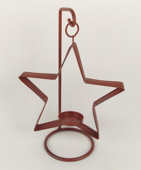 Red Star Tealight Candleholder