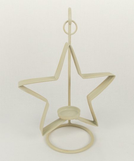 Off-White Star Tealight Candleholder
