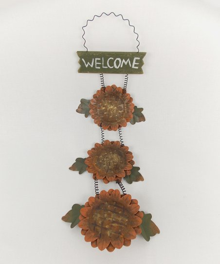 Sunflower 'Welcome' Sign