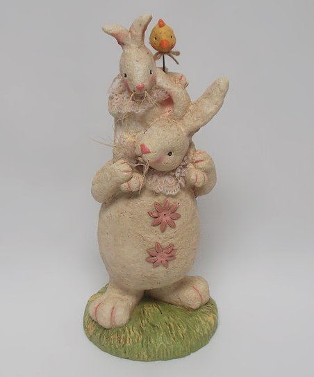 Rabbit & Baby Bunny Figurine