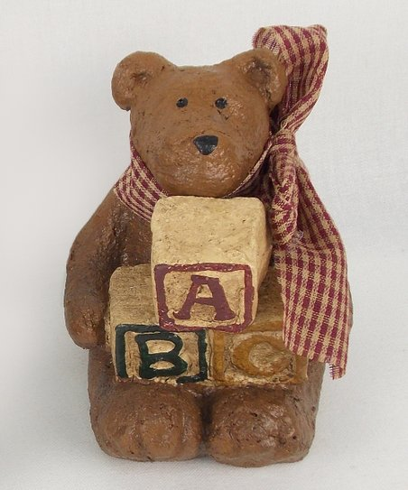 Bear & Blocks Figurine