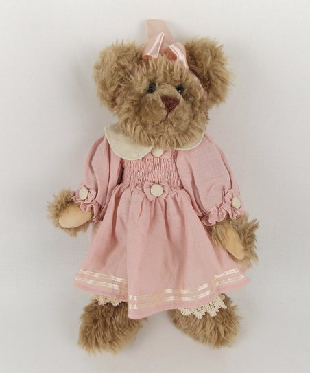 Pretty in Pink Bear Plush Figurine
