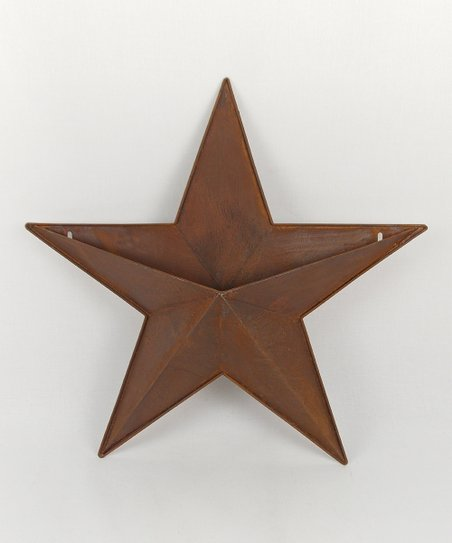 Rustic Tin Star 18'' Container