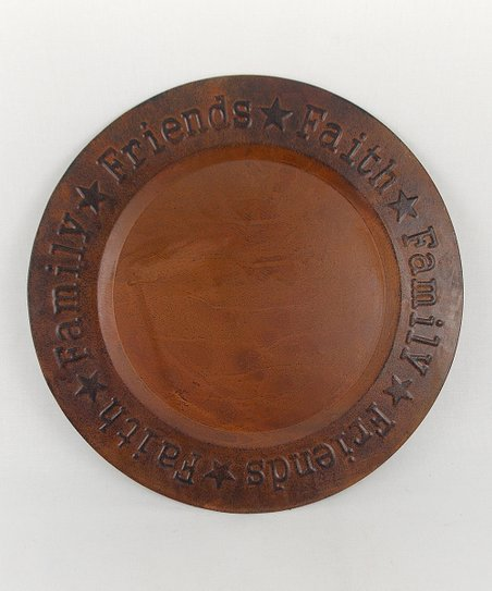 Rustic Red 'Faith, Family, Friend' Plate
