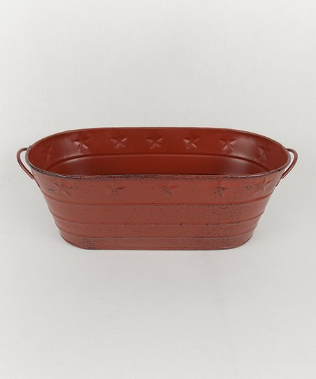 Barn Red Oval Tin Tub