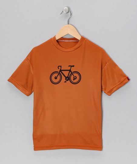 Burnt Orange Bicycle Shirt