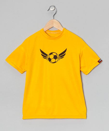 Yellow Gold Soccer Shirt