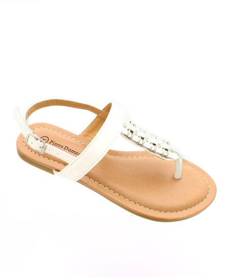 White Metallic Accent Sandal