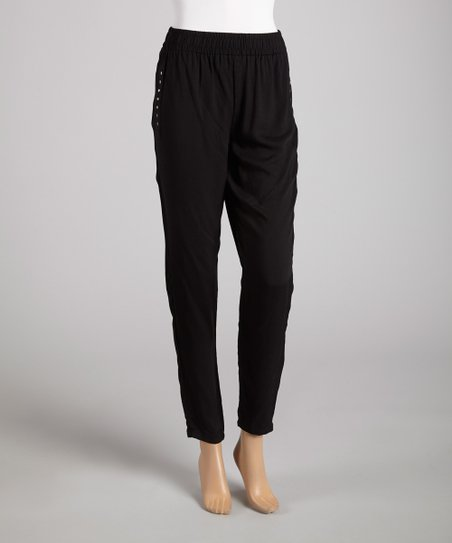 Black Studded Harem Pants