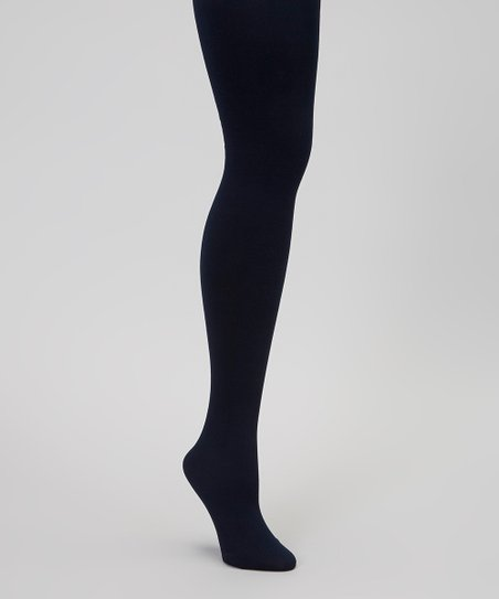 Navy Fleece-Lined Tights