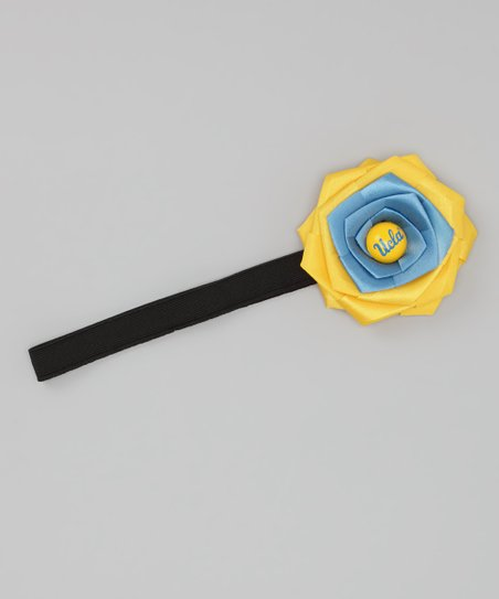 Blue & Gold UCLA Rosette Headband