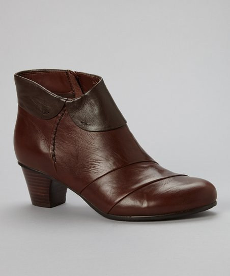 Brown Galore Leather Ankle Boot