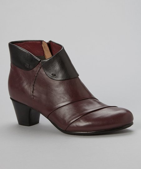 Vino & Black Galore Leather Ankle Boot