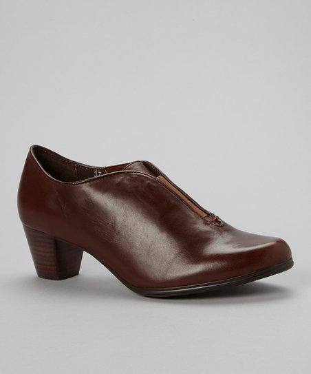 Brown Nut Nocare Leather Bootie