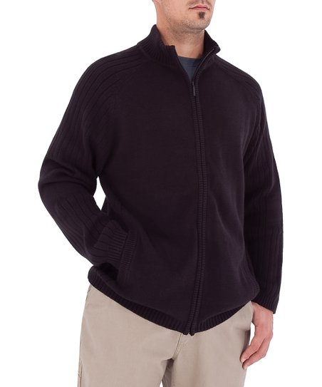 Charcoal Flagstone Wool Blend Zip-Up Jacket - Men