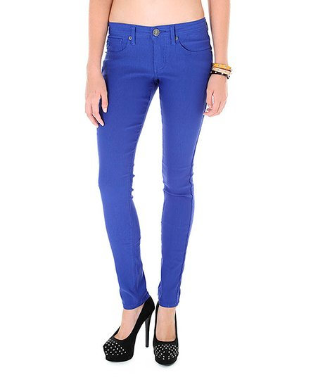 Navy Low-Rise Super Skinny Jeans