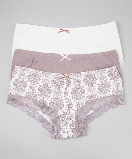 White & Purple Hipster Set - Women