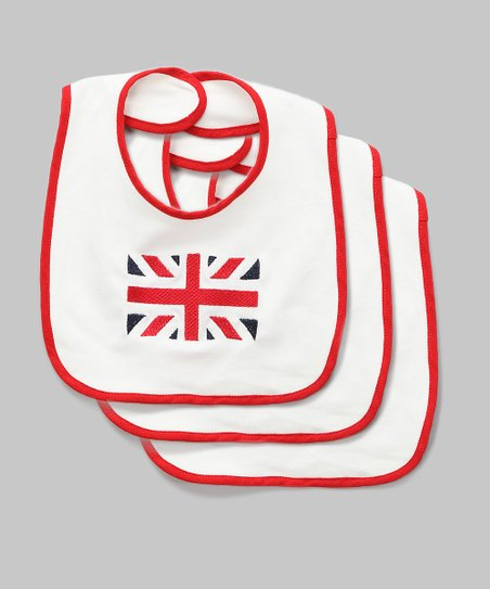 Union Jack Embroidered Bib