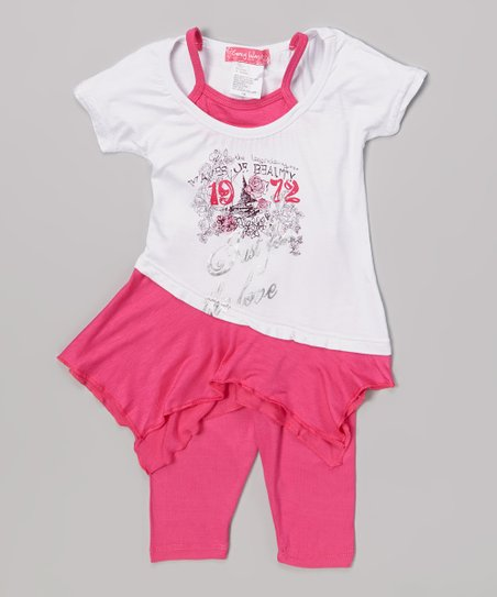 Pink '1972' Layered Tunic & Leggings - Infant & Toddler