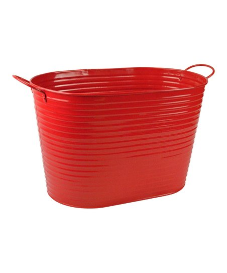 Candy Apple Metal Oval Tub