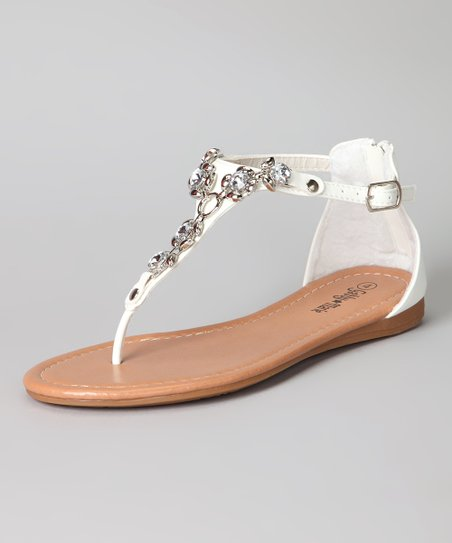 White Trixie Sandal