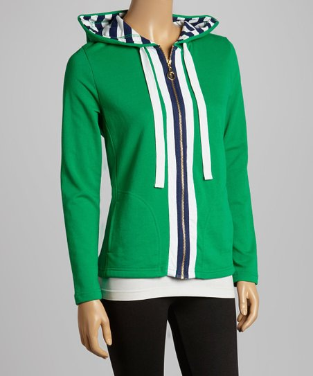 Jelly Bean Stripe Zip-Up Hoodie