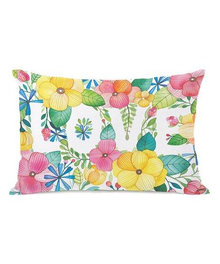 Floral 'Love' Throw Pillow