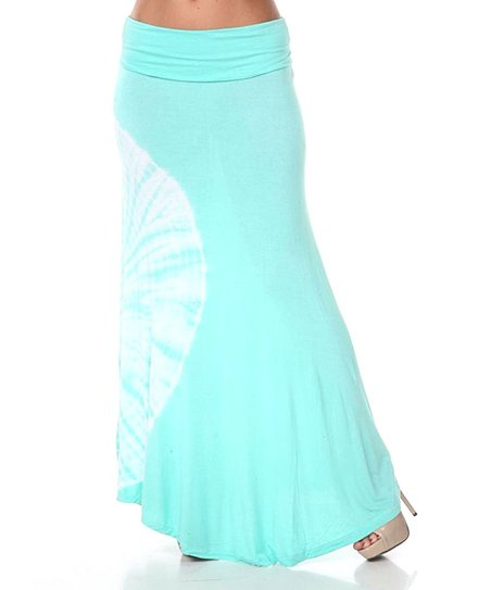 Mint Tie-Dye Maxi Skirt