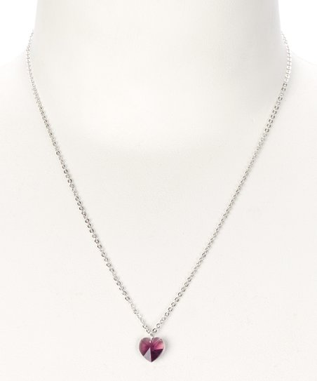 Amethyst February Necklace Made With SWAROVSKI ELEMENTS