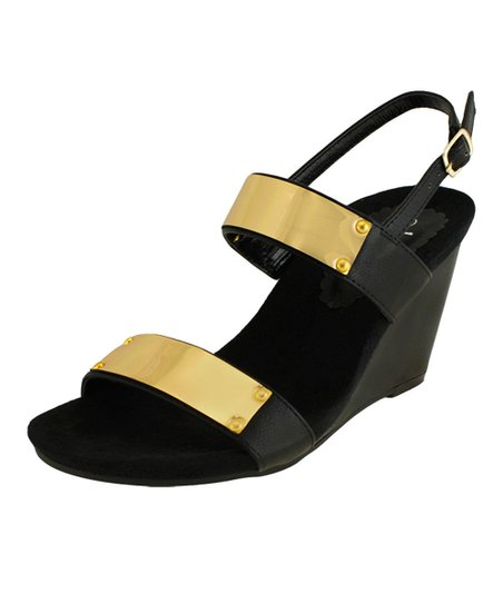 Black Melisa Wedge Sandal