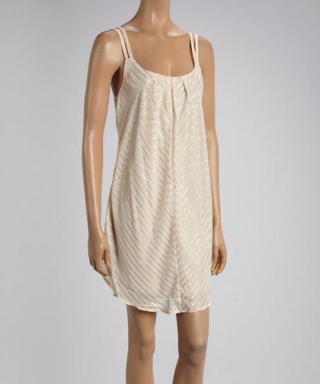 Ivory & Gold Sleeveless Dress