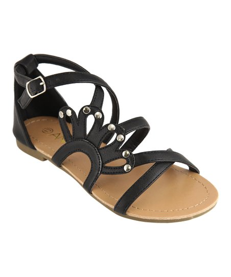 Black Crisscross Strappy Sandal
