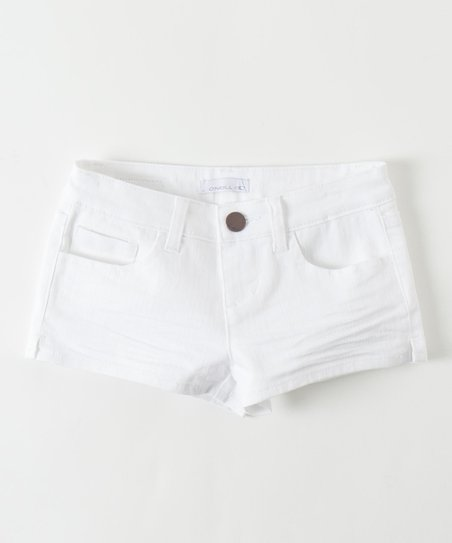White Mina Shorts