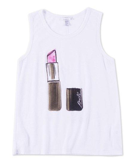White Lipstick Tank